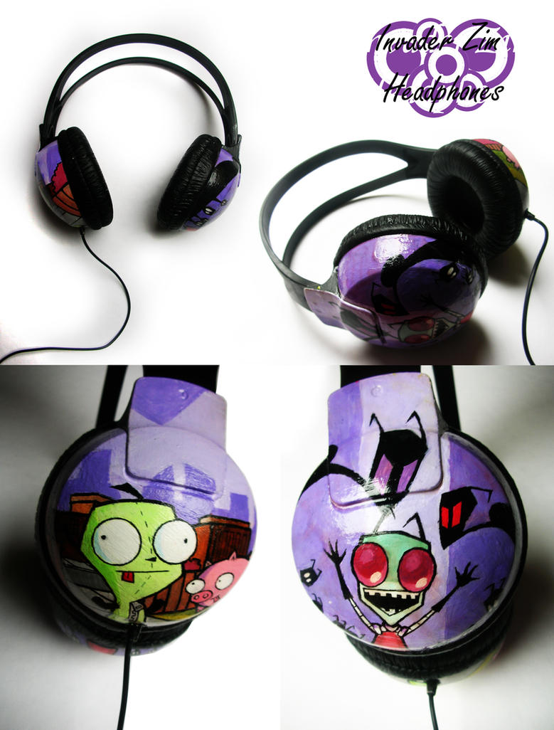 Invader Zim Headphones by Laovaan