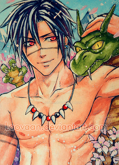 Dragon Love ACEO by Laovaan