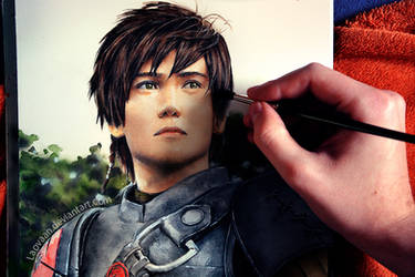 Painting Liui Aquino as Hiccup