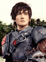 Painting Liui Aquino as Hiccup - Scan