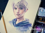 Jack Frost by Sakimichan in Watercolor WIP