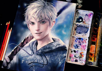 Jack Frost by Sakimichan in Watercolor + Video