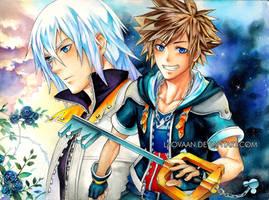 Kingdom Hearts II - Sora and Riku