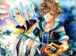 Kingdom Hearts II - Sora and Riku
