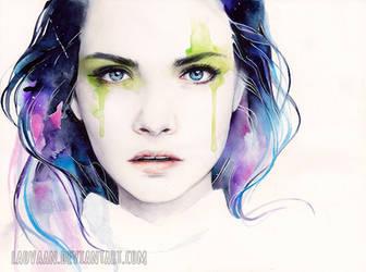 Watercolor Portrait - Cara Delevingne
