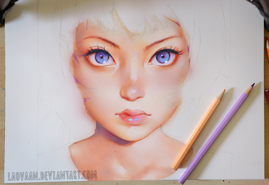 Gyoushi by KR0NPR1NZ in Watercolor WIP