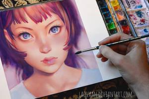 Gyoushi by KR0NPR1NZ in Watercolor + VIDEO by Laovaan