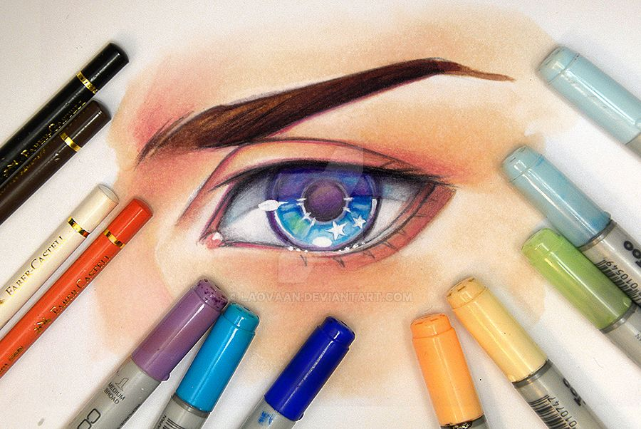 Drawing an Eye - Video by Laovaan
