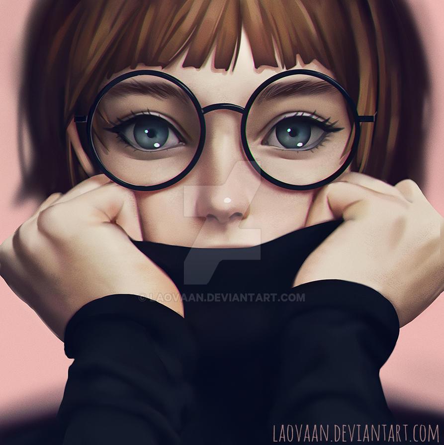 cute girl glasses wallpaper - photo #27