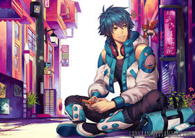 Aoba Playing Gameboy - Digital Version