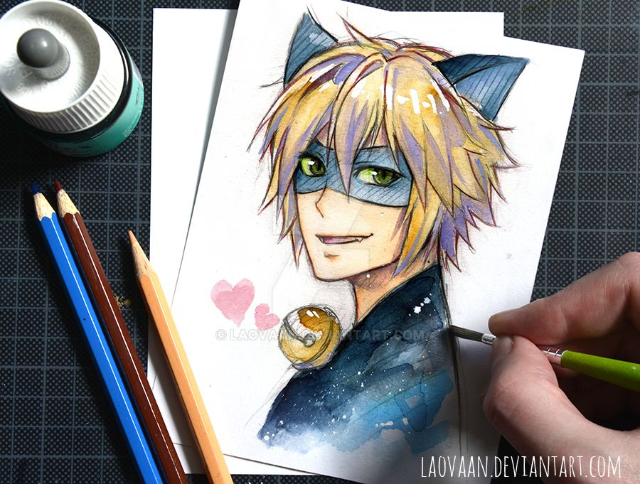 It's just a picture of Intrepid Chat Noir Drawing