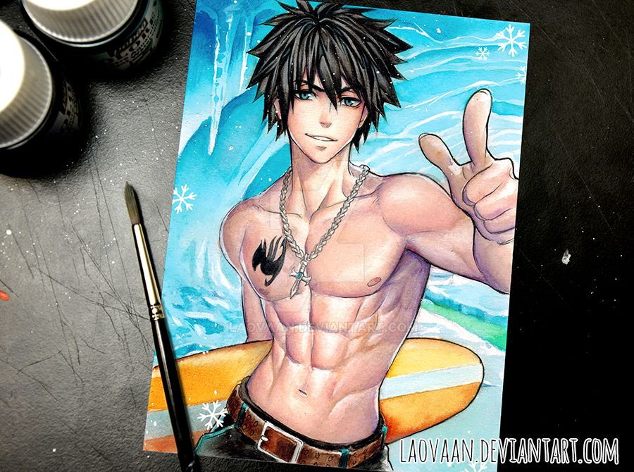 Gray Fullbuster - Fairy Tail by Laovaan