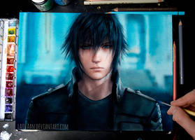Noctis Lucis Caelum - Watercolor by Laovaan