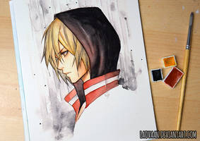 Yuri Plisetsky - 3 Watercolor Challenge