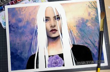 Watercolor Potrait - White Night (Video)