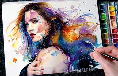 Watercolor Portrait - Wash Away +Video