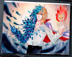 Wizard Howl - Howl's Moving Castle by Laovaan