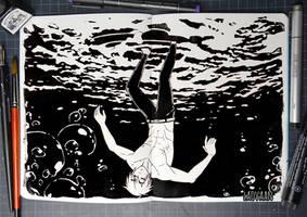 Inktober 2017 - #4  Underwater by Laovaan