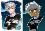 Danny Phantom - Cartoon vs. Anime