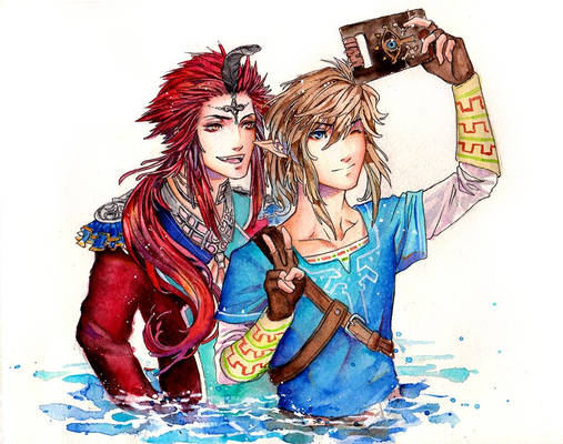 Link and Sidon - Breath of the Wild