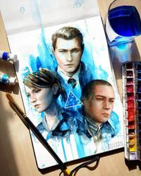 Detroit Become Human - Connor, Kara and Markus