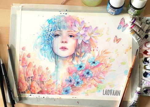 Watercolor Portrait - Passing By