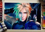 Watercolor Cloud - Final Fantasy VII Remake
