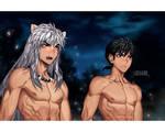 Inuyasha and Miroku - Anime Redraw