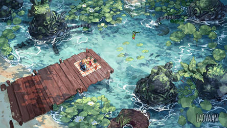Picnic with Koroks - Zelda: Breath of the Wild