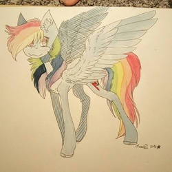 .watercolored rainbow pony. by RainFlyProduction