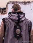 Damast thorn cloak coat hoody - leather works 1 by SchmiedeTraum