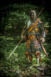 Celtic man leather hunter armor by SchmiedeTraum