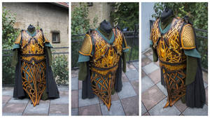 Darkwood elf /elven amber guard - breast plate
