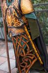 Darkwood elf /elven amber guard - sword sheath