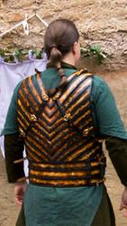 Elf leather armor - Mirkwood Amber guard bck