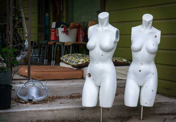 Porch Mannequins Examine A Bell by al-evans