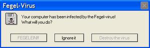Fegel-Virus Error Message
