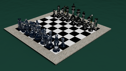 School Chess Set by steveturnerart