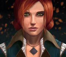 Triss Portrait by Ynterpics
