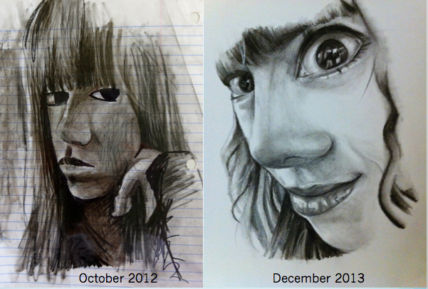 Portrait improvement (1 year) by Elleon12
