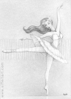 Swan Lake commission - ACEO by siffert
