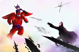 Big Hero 6 fight (Request) by Wiilma