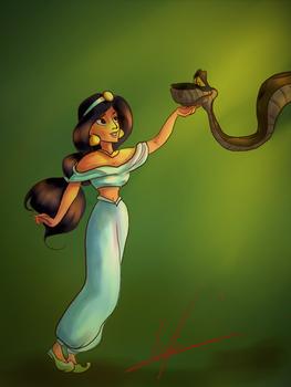 Jasmine and Kaa (request)