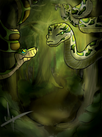 Kaa vs Kaa (request) by Wiilma