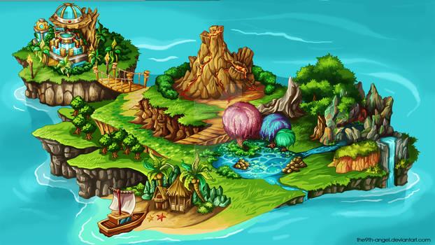magic girl's Island