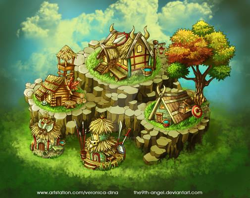 Viking's Village game map
