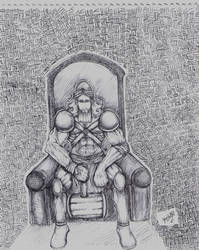 Lugal-azxli en su trono by halleymurray