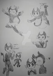 Bendy and The Ink Machine doodles
