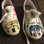 Vocaloids on my shoes! by Moonstar2314