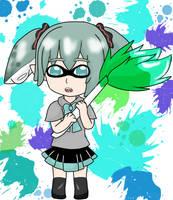 Inkling Smol Miku-chan by Moonstar2314